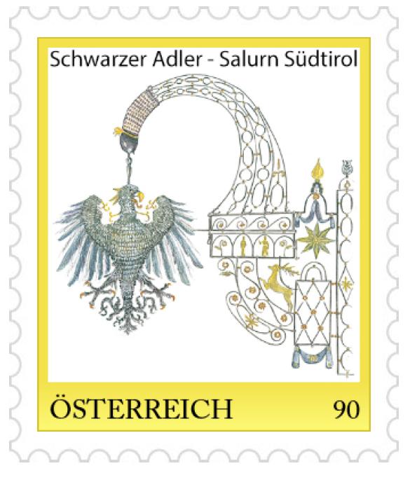 Personalisierte BriefmarkeSchwarzer Adler Salurn